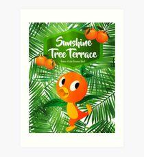 Sunshine Tree Terrace - Home of the Orange Bird Art Print