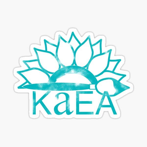 KAEA Logo- Distressed Teal Sticker