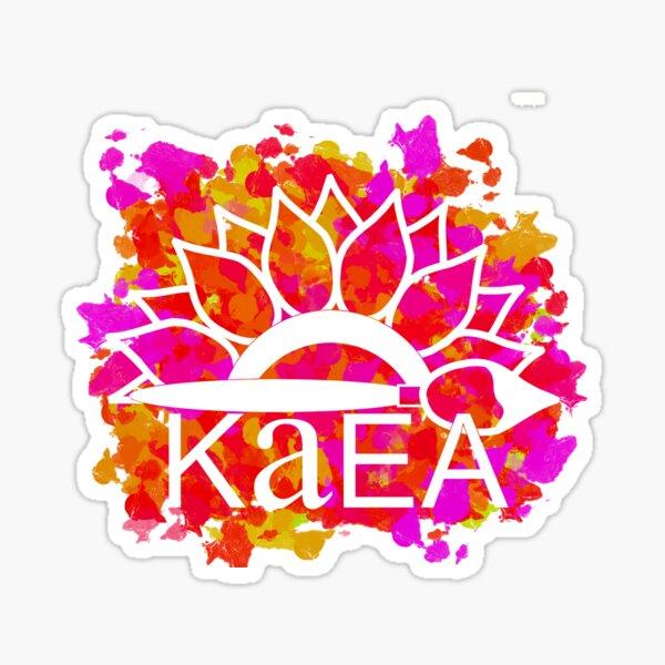 KAEA Logo Red, Pink, &Orange Paint Sticker