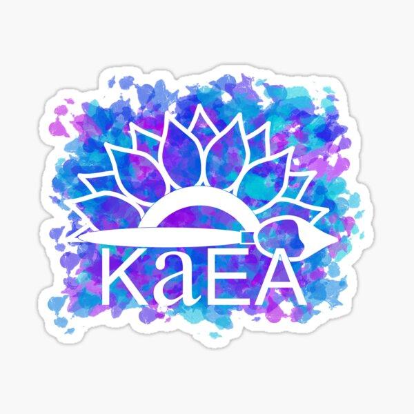 KAEA Logo Purple & Blue Paint Sticker