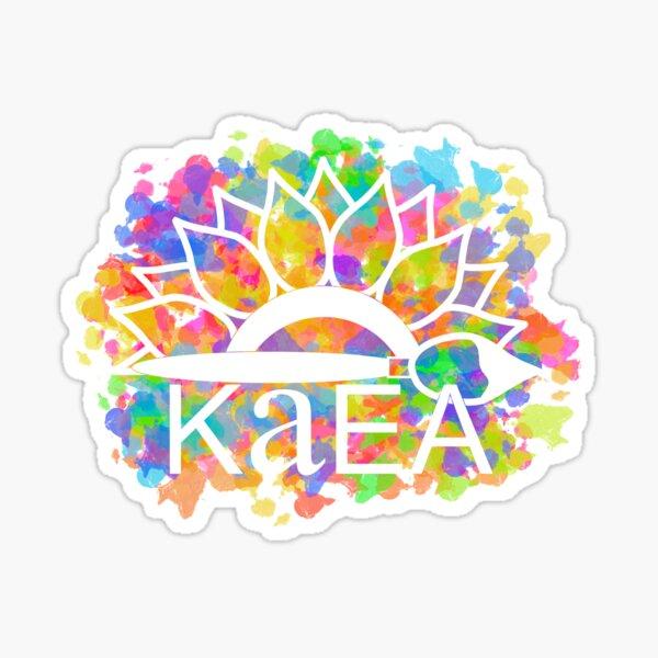 KAEA Logo Multicolor Paint Sticker