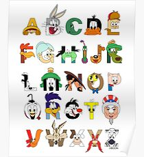 That's Alphabet Folks Poster