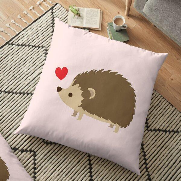 Hedgehog Love Floor Pillow