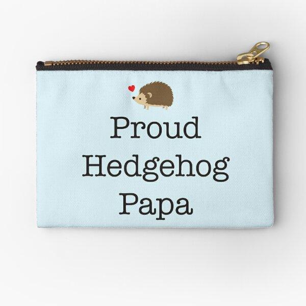 Proud Hedgehog Papa Zipper Pouch