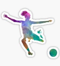 Woman soccer player 03 in watercolor Sticker