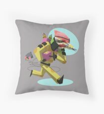 Demolitions Expert Woody Boomberg Throw Pillow