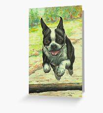 Leaping Boston Greeting Card