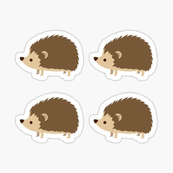 4 Cute Hedgehogs Sticker