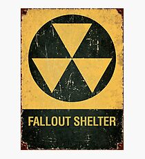 Fallout Shelter Photographic Print