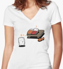 Sleepwalking Sushi Women's Fitted V-Neck T-Shirt
