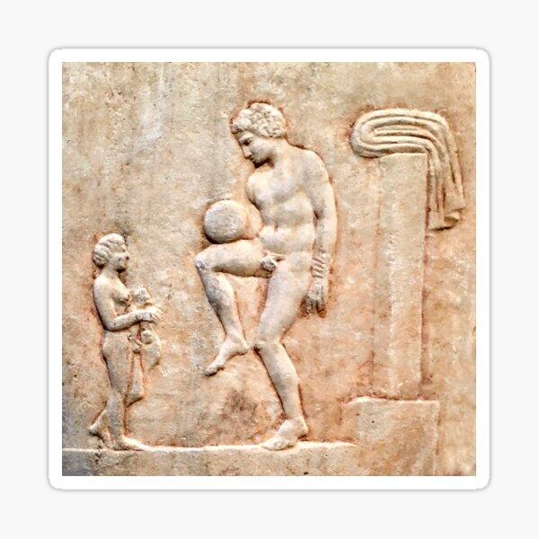 Ancient Greek Football/Soccer Player (2) Sticker