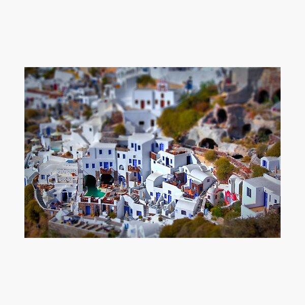 Tiny Santorini Photographic Print