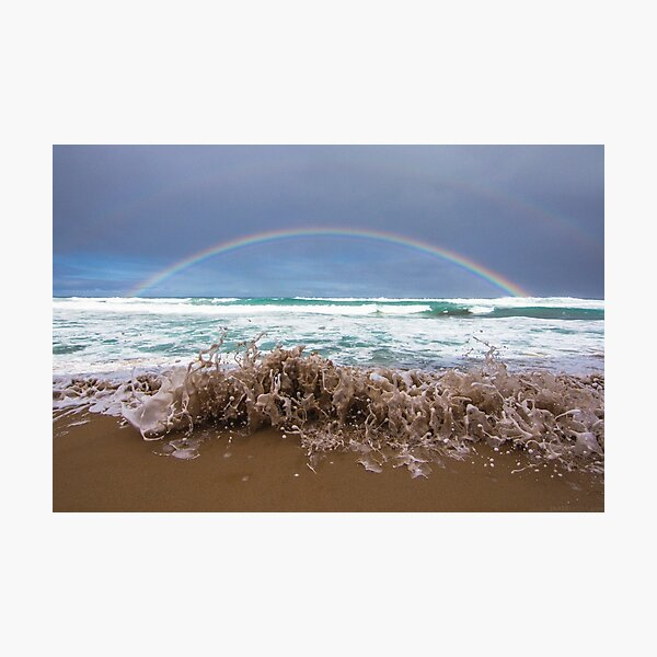 Great ocean rainbow Photographic Print