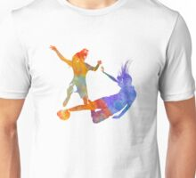 Women soccer players 02 in watercolor Unisex T-Shirt