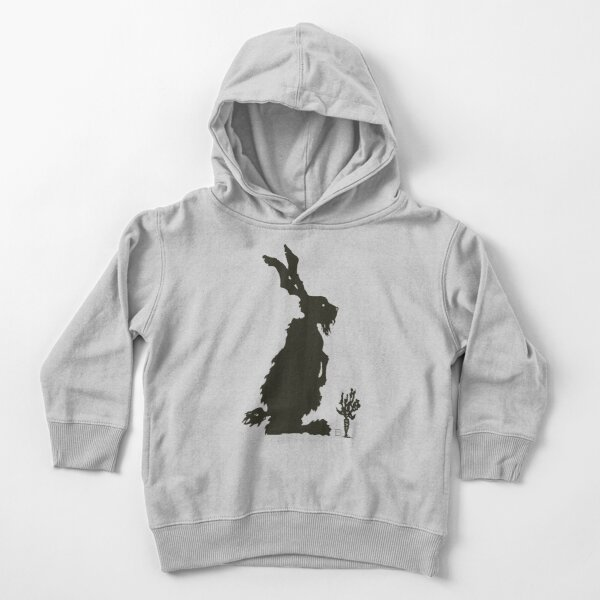 Fresh Hare Woodblock Print (Silhouette) Toddler Pullover Hoodie