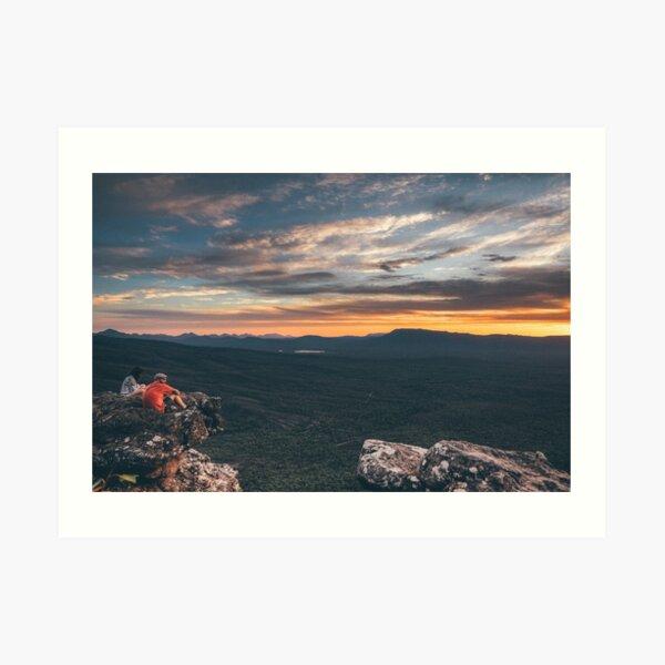 Grampians sunset Art Print