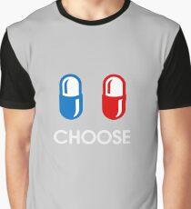 red pill or blue pill - choose - (enter the matrix) Graphic T-Shirt