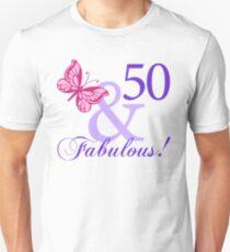 Fabulous 50th Birthday Slim Fit T-Shirt