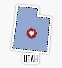 Utah State Heart Sticker
