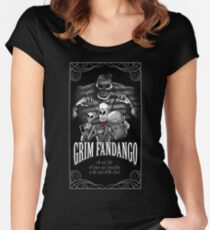 GRIM FANDANGO Women's Fitted Scoop T-Shirt