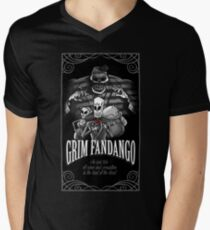 GRIM FANDANGO Mens V-Neck T-Shirt