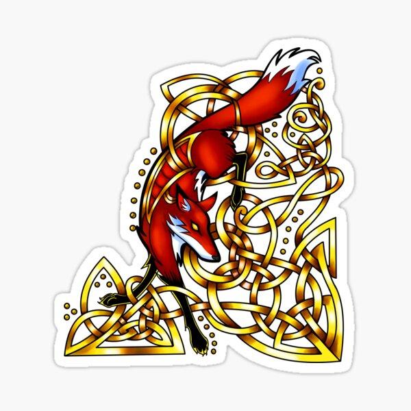 Diving Fox Sticker