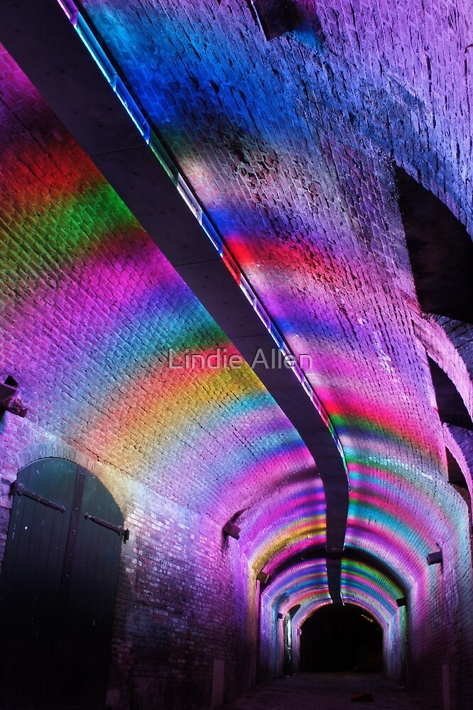 Colourfull tunnel by Lindie Allen