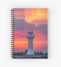 The Morning Light Show Spiral Notebook
