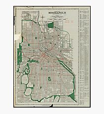 Vintage Minneapolis Map Wall Art Redbubble - Vintage minneapolis map