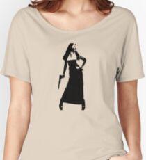 Gun totting nun! Women's Relaxed Fit T-Shirt