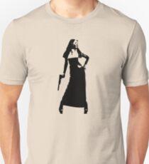 Gun totting nun! Unisex T-Shirt