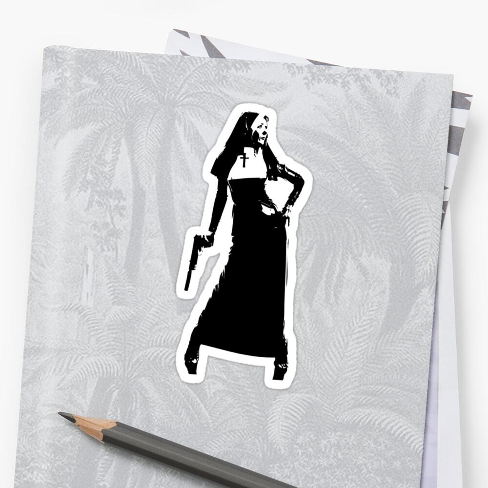 Gun totting nun! by TeeArt