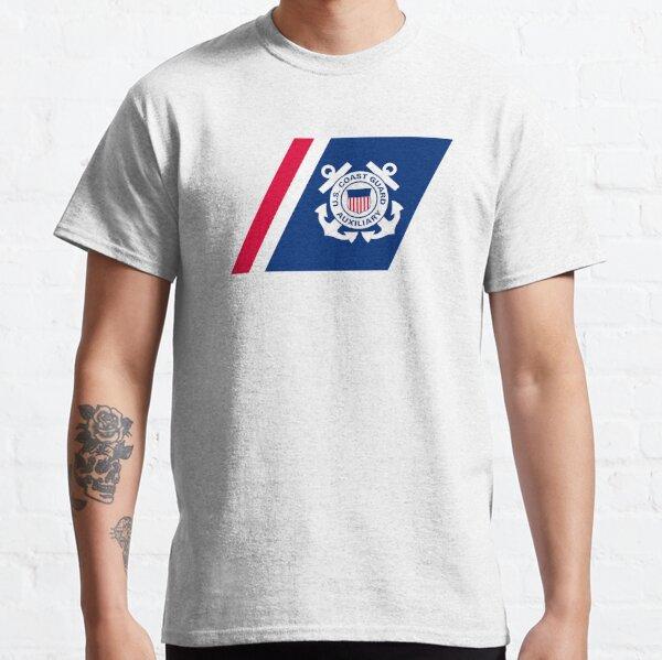 Racing Stripe of the United States Coast Coast Guard Auxilary Classic T-Shirt