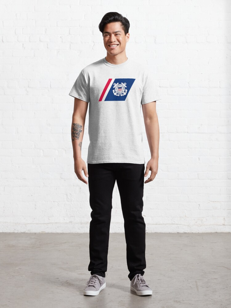 Alternate view of Racing Stripe of the United States Coast Coast Guard Auxilary Classic T-Shirt