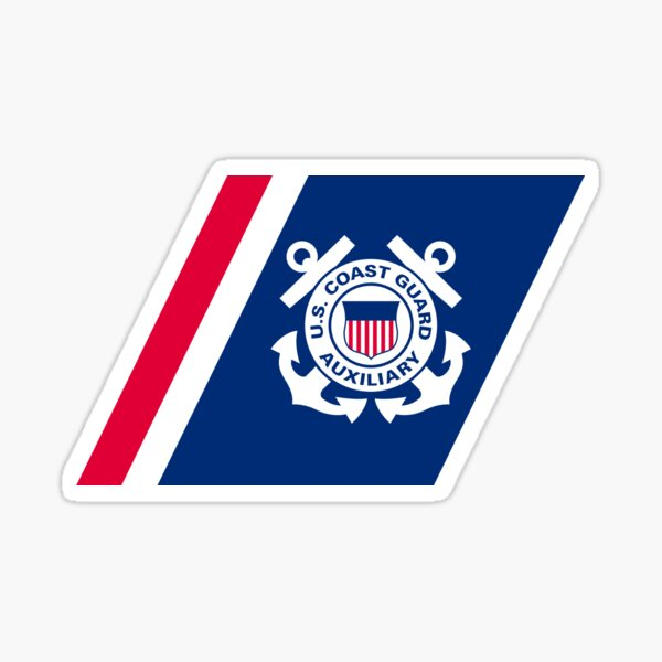 Racing Streifen der Vereinigten Staaten Coast Coast Guard Auxilary Sticker