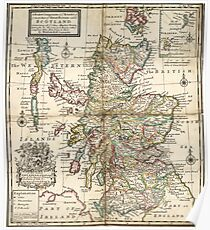 Old Map of Scotland Posters | Redbubble