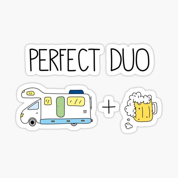 Camper and beer Sticker