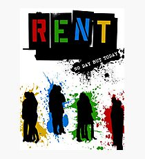 RENT Musical Paint Splash Photographic Print