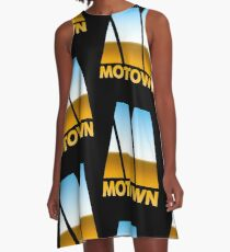 MOTOWN DISCO RECORDS (MIRROR 80s) A-Line Dress
