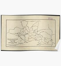 Vintage Mount Monadnock Trail Map (1910) Poster