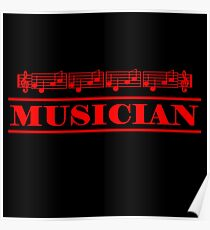 Musician (red) Poster