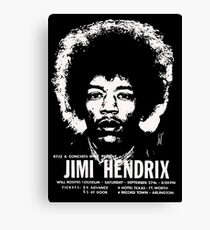 jimmy hendrix gig poster shirt Canvas Print