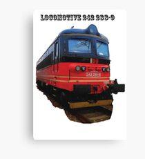Electric Locomotive 242 288-9 Canvas Print