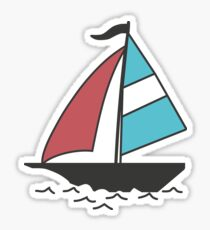 Color boats Sticker
