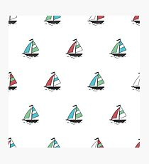 Color boats Photographic Print