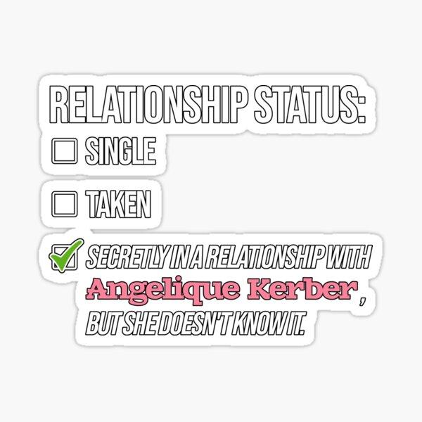 Relationship with Angelique Kerber Sticker