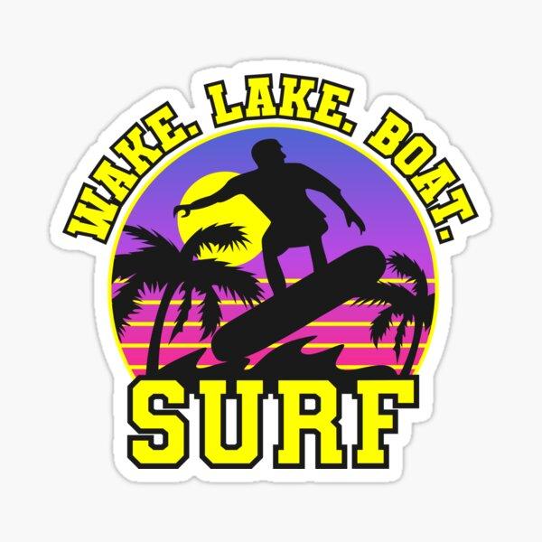 Wake Lake Boat Surfboards  Sticker