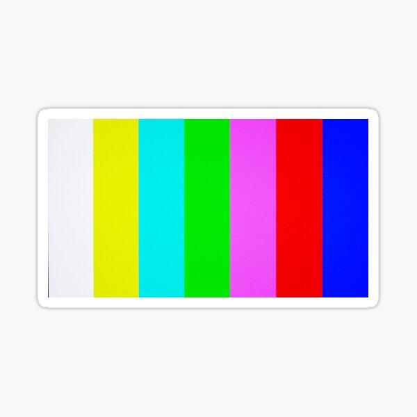 NO SIGNAL ~ Color Test Sticker