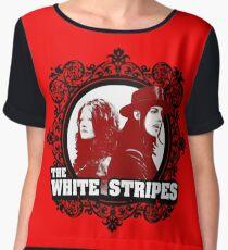The White Stripes Chiffon Top