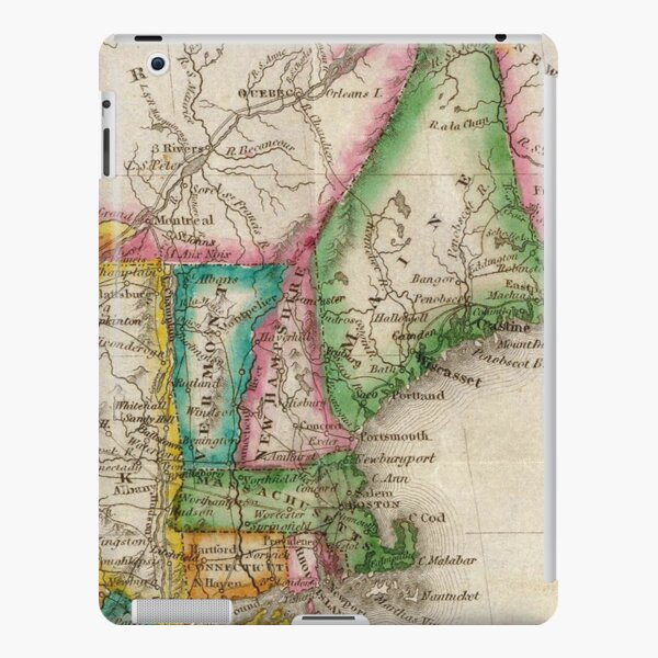 Vintage Map of New England (1822) iPad Snap Case